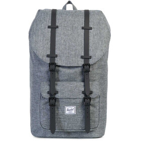 Herschel Little America Rugzak, raven crosshatch/black rubber
